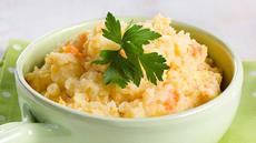 Kålrotstappe med potet og gulrot