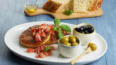 Italienskinspirert  fiskeburger med Focaccia
