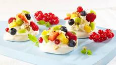 Minipavlova med bær