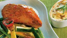 Kyllingfilet med gratinerte poteter