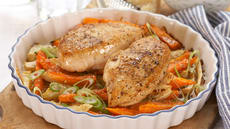 Kyllingfilet med gratinerte rotgrønnsaker