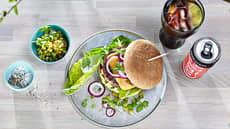 Hamburger med chunky guacamole