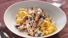 Svinekjøtt med pasta og blåmuggost