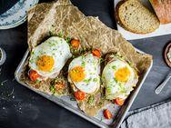 Frokostsmørbrød med speilegg