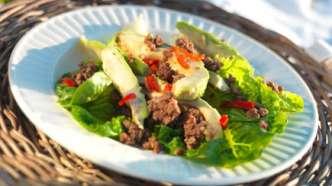 Sommersalat med kjøttdeig