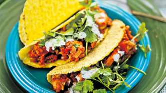 Taco med kylling og jalapeno-aioli