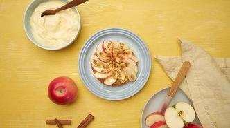 Polarbrød med stekte epler - august