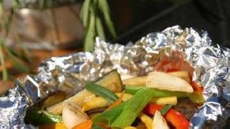 Grillet grønnsakspakke