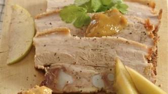 Smørbrød med ribbe og stappe
