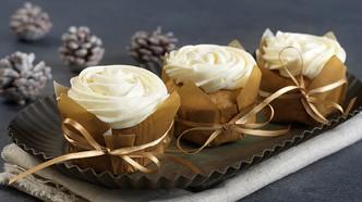 Kryddercupcakes med kremosttopping