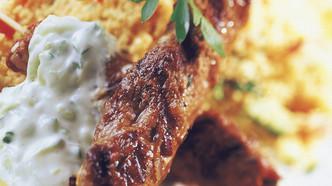 Kebab med couscoussalat