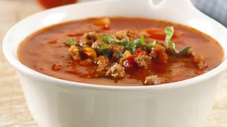 Tomatsuppe med kjøttdeig