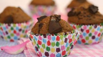 Bananmuffins med sjokolade