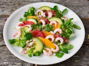 Rekesalat med sitrus og avokado
