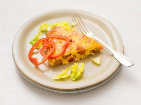 Pølseform med grønnsaker og pesto