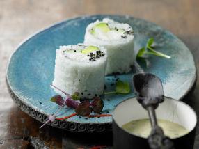 Maki sushi med torsk