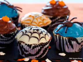 Skumle cupcakes med ostekrem