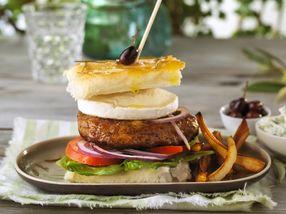 Lammeburger med focaccia