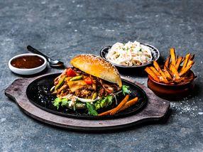Pulled Pork Burger med hjemmelaget coleslaw
