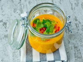 Gulrotsuppe med chili, appelsin og ingefær