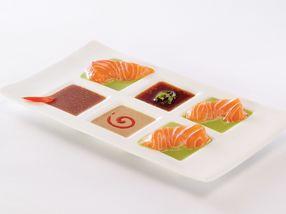 Sashimi med to sauser
