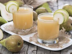 Hjemmelaget juice med pære