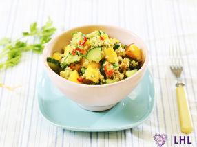 Quinoasalat med koriander, mango og chili