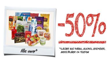 Vi bygger om - 50% rabatt på alle varer*