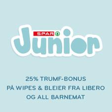 25 % Trumf-bonus med SPAR Junior