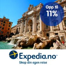 Opptil 11 % Trumf-bonus hos Expedia