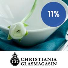 11 % Trumf-bonus hos Christiania Glassmagasin