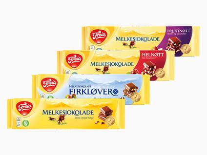 Store sjokoladeplater fra Freia