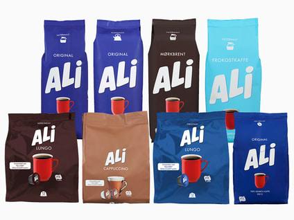 Alle varianter ALI kaffe