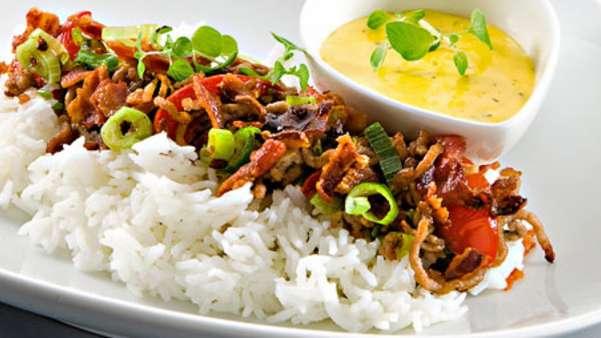 Kjøttdeig med ris og bearnaisesaus