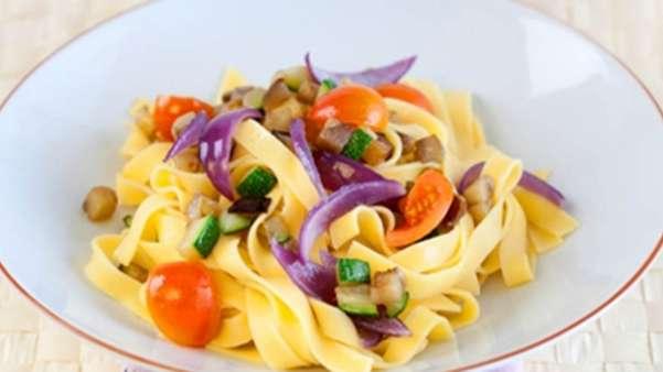 Tagliatelle med grønnsaker