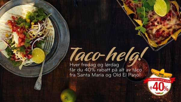 Taco er god helgemat!