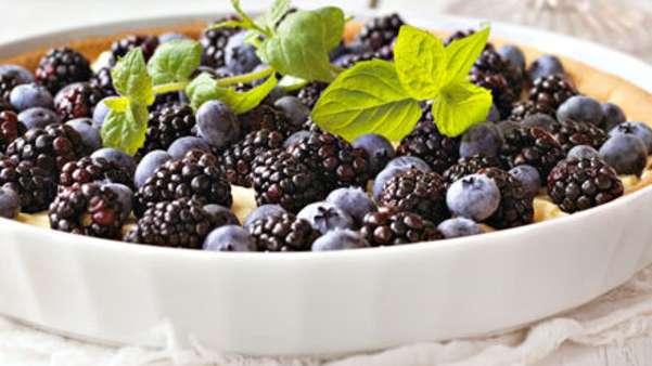 Pai med blå bær