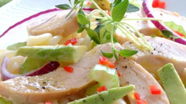 Kyllingsalat med pasta
