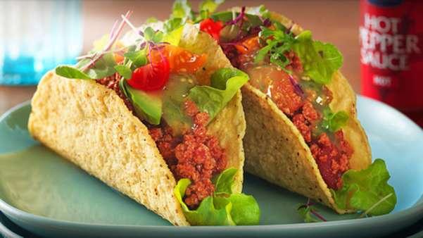 Vegetartaco med avokado og grønn chili