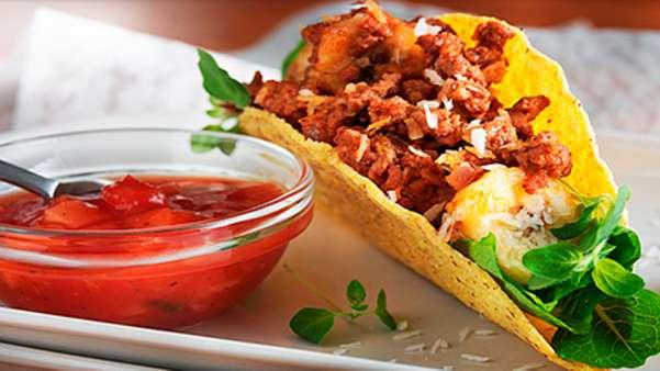 Banantacos med karri og kokos