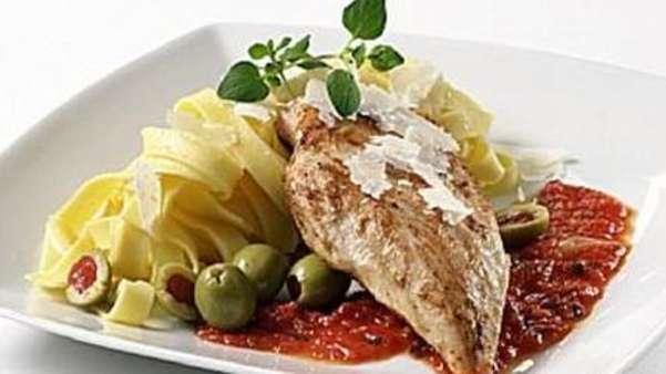 Middelhavskylling med pasta