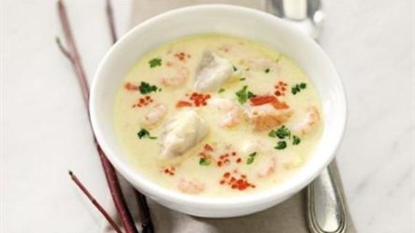Fiskesuppe med reker