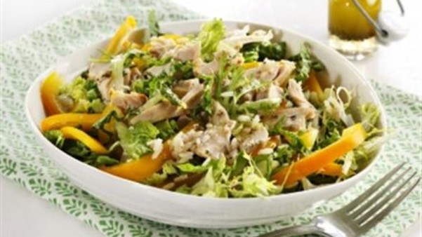Kyllingsalat med ris
