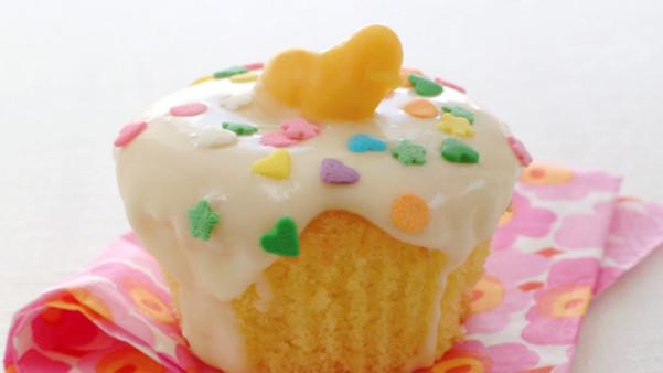 Muffins med melisglasur