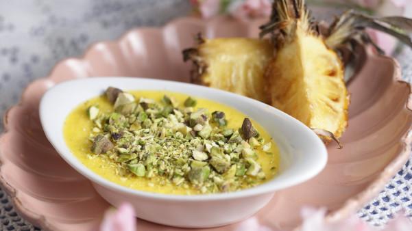 Crème Cassonade med karamellisert ananas