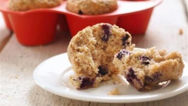 Blåbærmuffins med havregryn
