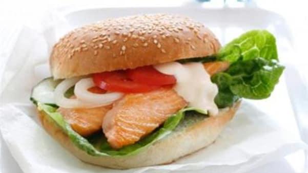 Burger med laks