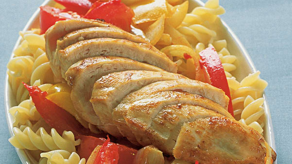 Kyllingfilet med varm paprikasalsa