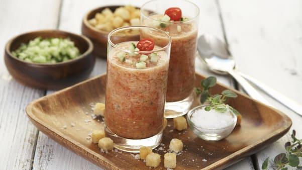 Gazpacho- spansk grønnsakssuppe