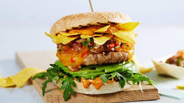 Chicken Salsa Burger